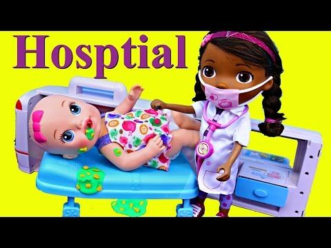 Baby Alive Doll Hospital With Doc Mcstuffins At Popo Japanese Ambulance Fixing Play Doh Vomit Baby Alive Dolls Baby Alive Baby Doctor