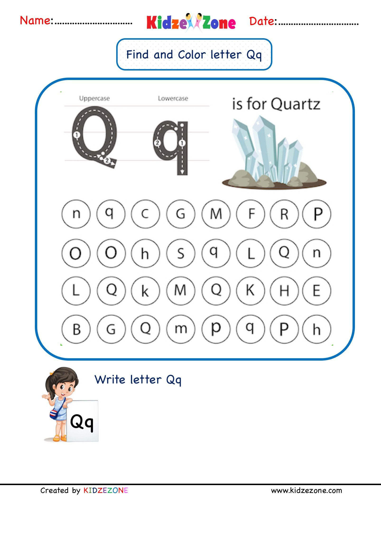 Letter Q Find And Color Worksheet In
