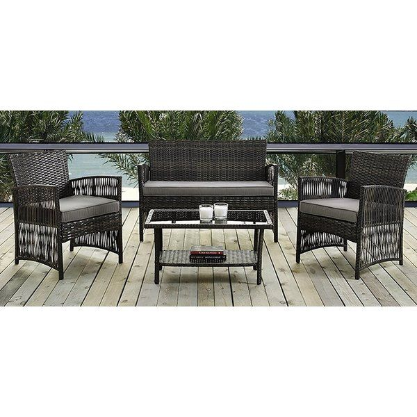 IDS Online Corp Havana 4-Piece Lounge Seating Group | Home ...