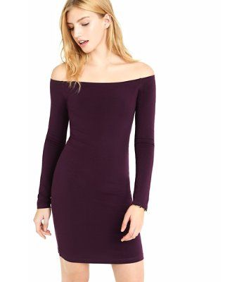 aab6bb73d currant fitted off the shoulder dress from EXPRESS | Clothes ...