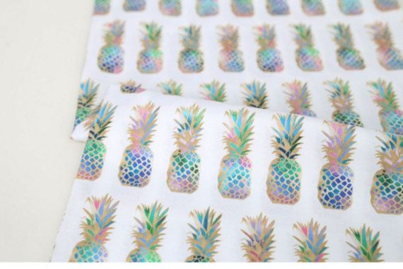 Check out this item in my Etsy shop https://www.etsy.com/listing/495985236/pineapple-patterned-fabric-made-in-korea
