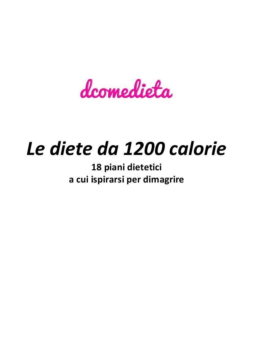 piano pasto dieta 1200 calorie stampabile