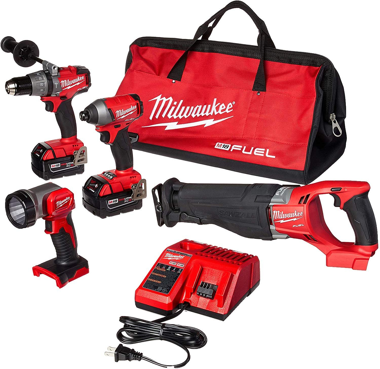 Milwaukee 2896 24 M18 Fuel 4 Tool Combo Kit Exercise