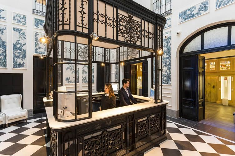 If Only Warmth And Character Make This Palatial Madrid Boutique Hotel A Real Dream Home From Home Boutique Hotel Madrid Hotel Lobby Design Boutique Hotels Interiors