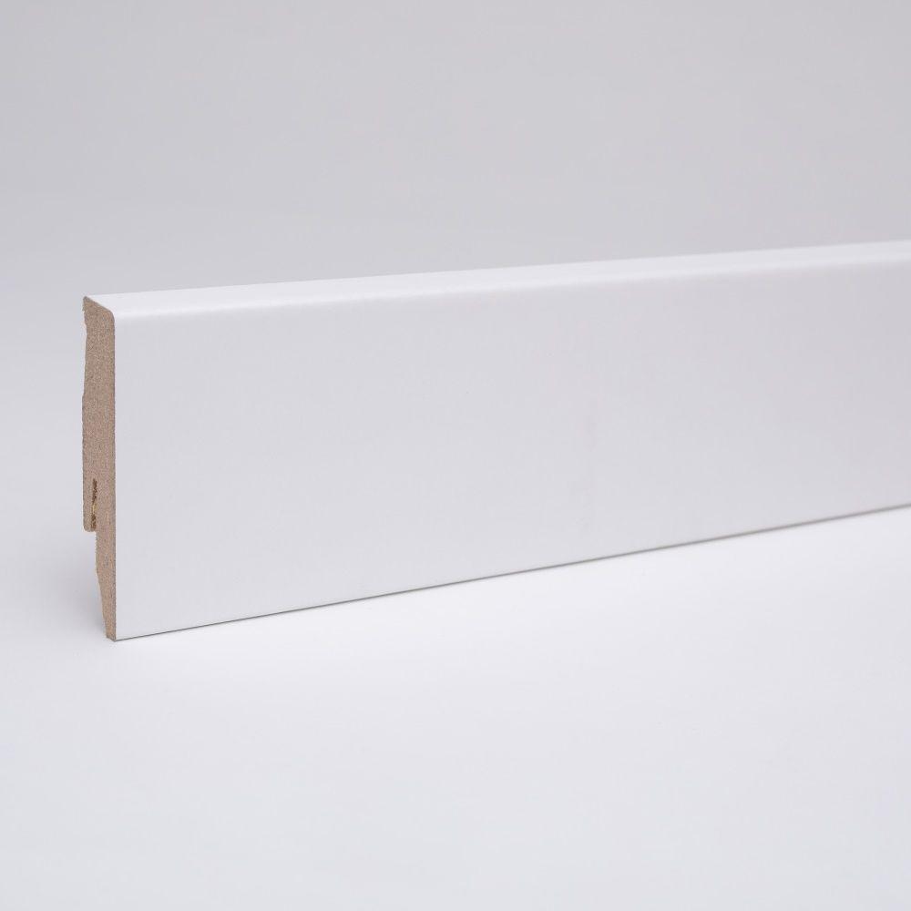 Dekor Sockelleiste 60mm Weiss Ahnlich Ral 9010 In 2020 Weisse Sockelleisten Sockelleisten Und Fussleisten Weiss