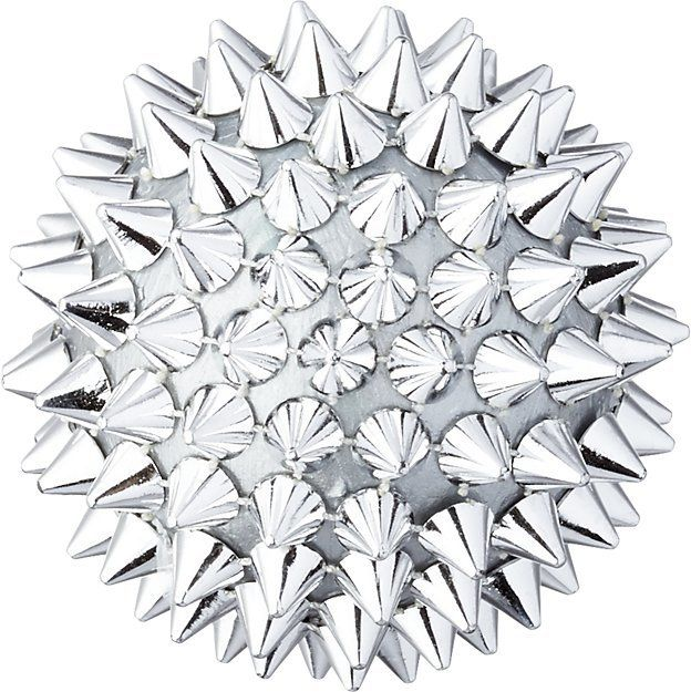 Christmas Tree Spike Part - 28: Spike Ball Silver Ornament Punk Rock Vibe For Your Christmas Tree!