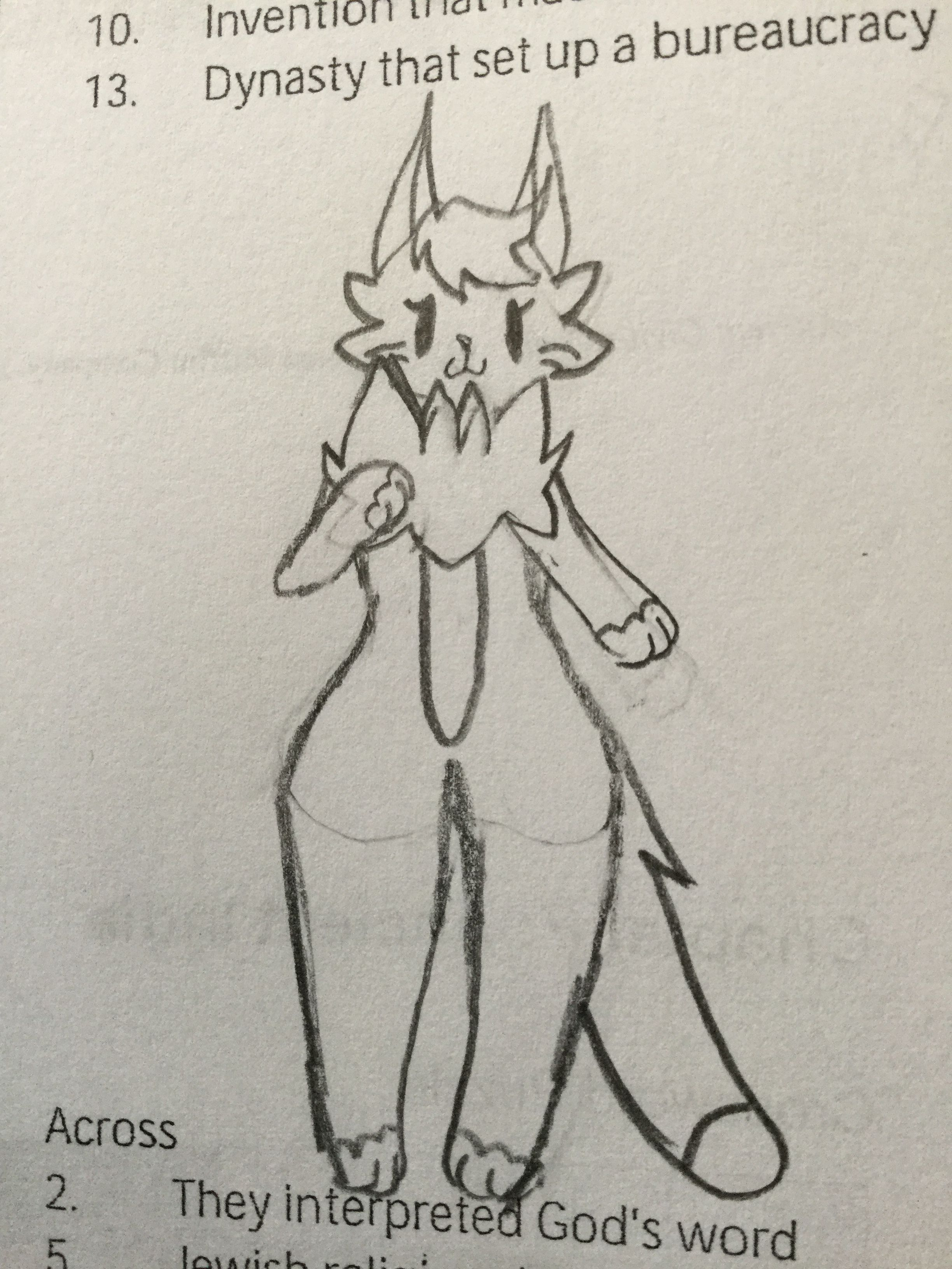 A doodle of Greydawn at school because I had to do 5 pages