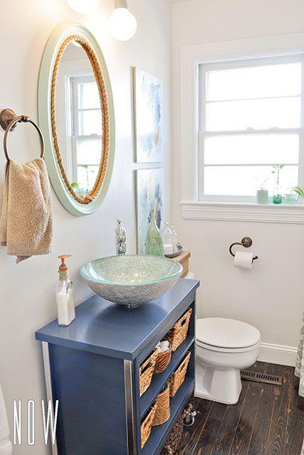 Diy Budget Bathroom Renovation With A Metal Cabinet