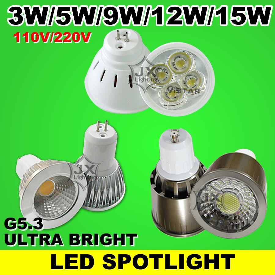 15 3 5 9 12 15 mr16 w 3 w 5 w 9 w 12 w 15 w led spots lampe conduit ampoule spot 110 240 220 v blanc chaud blanc froid gros livraison gratuite parisarafo Choice Image