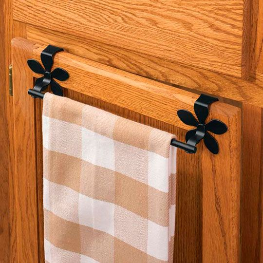 Easy Cheap Kitchen Helper Over The Cabinet Towel Bar Home