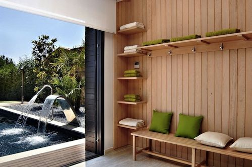 Changing Room To The Pool Pool Changing Rooms House Design Architect Design