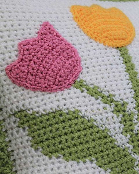 Tulip Afghan And Pillow Set Crochet Pattern Afghans Blankets