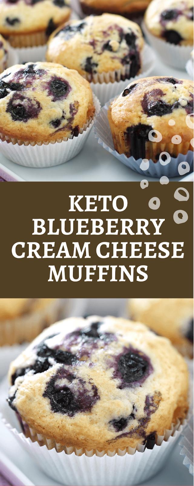 Keto Blueberry Cream Cheese Muffins - Skyla | Blueberry ...