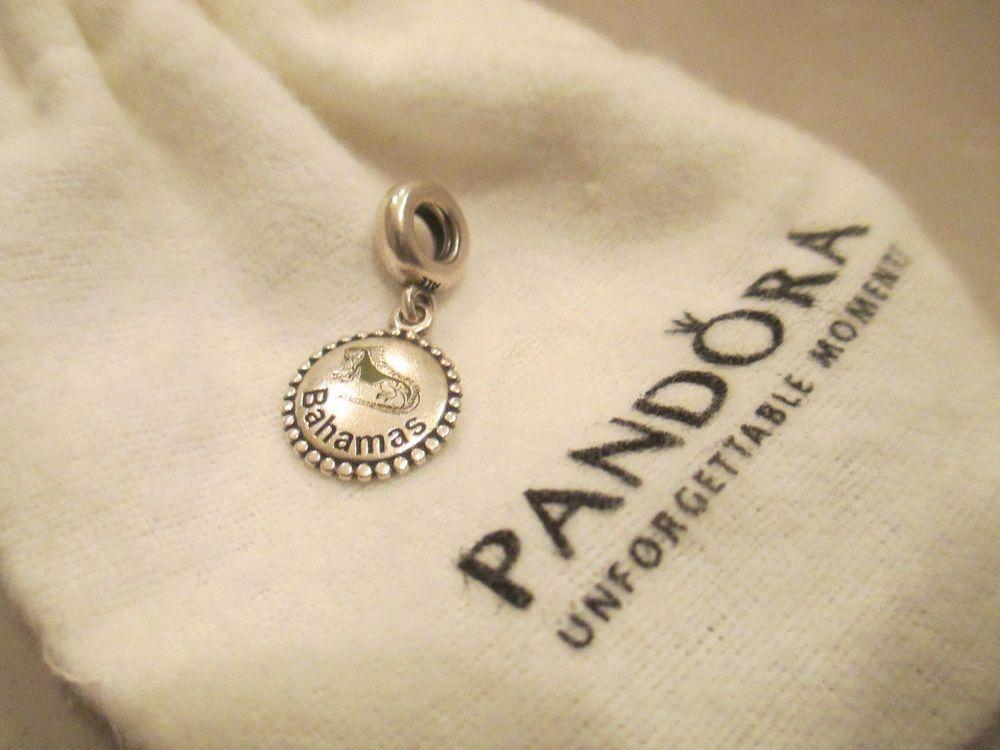 751a25d04 Authentic Pandora Bahamas Rare sterling silver Unforgettable Moments 925 ALE