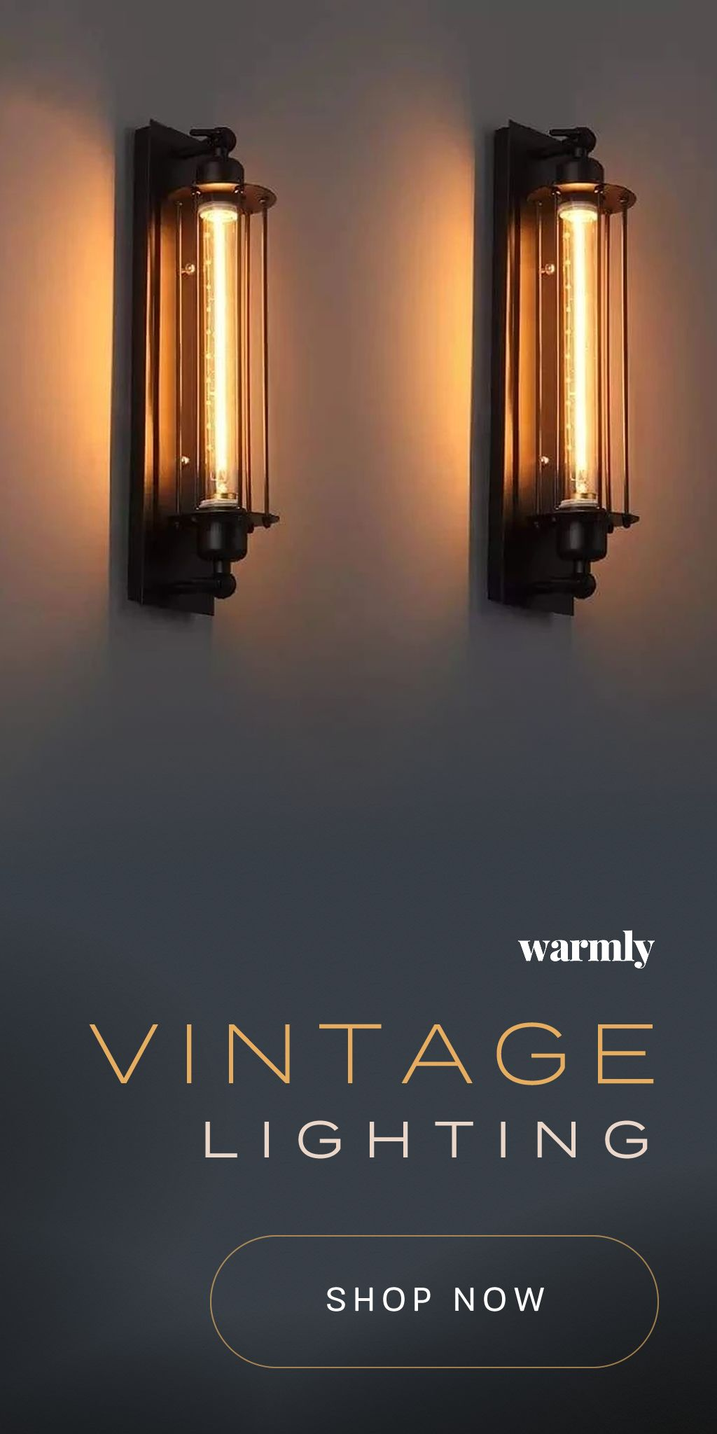 Vintage Lighting - 50% off (or more), while supplies last! #tinyhouses