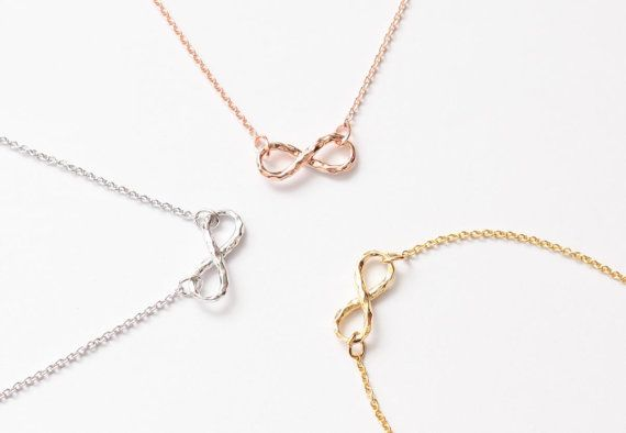 Hammered Infinity Necklace Tiny Necklace 3 Colors Necklace Etsy Friendship Necklaces Tiny Necklace Jewelry Necklaces