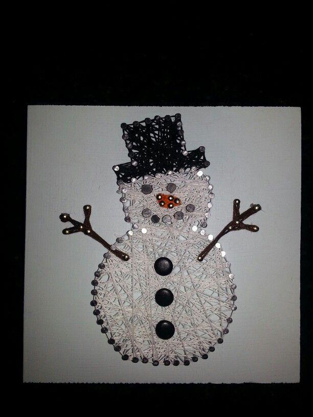 string art snowman halloween