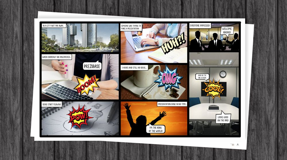 Comic Book Prezi presentation template Prezi Templates - comic book template