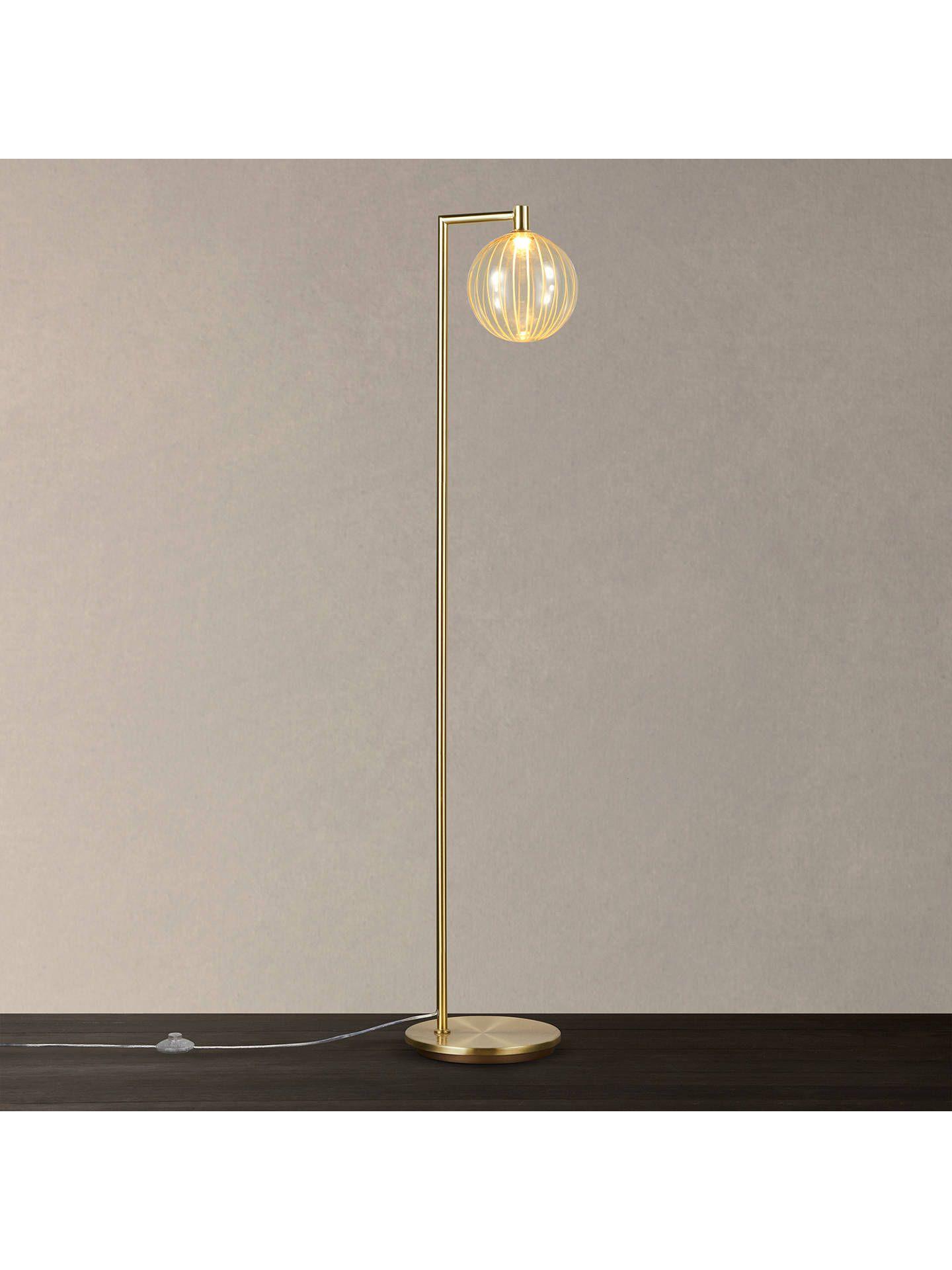John Lewis & Partners Marlo LED Floor Lamp, Gold Led