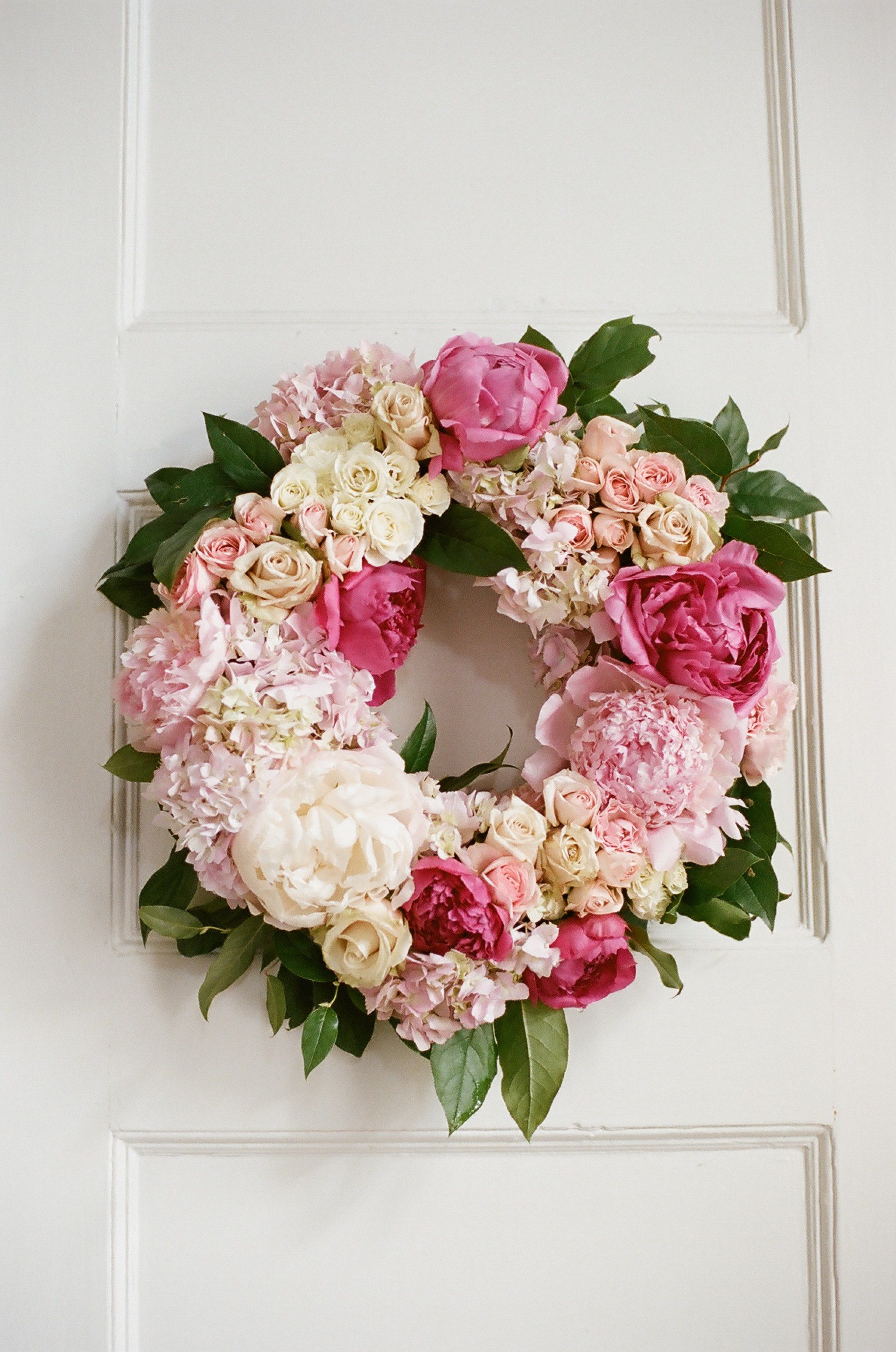 Pink wreath by LIz Banfield