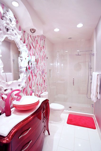 23 Unique And Colorful Kids Bathroom Ideas Furniture And Other Decor Accessories Fancy Bathroom Modern Bathroom Design Kid Bathroom Decor