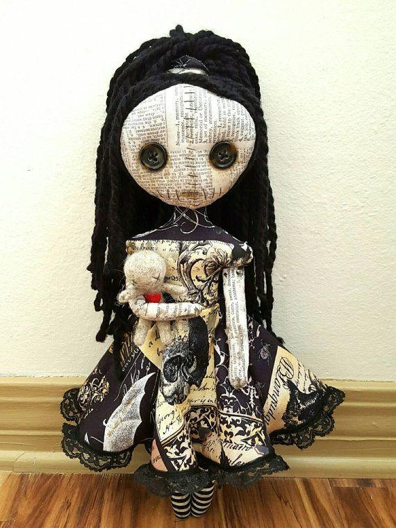 Handmade Voodoo Priestess Doll | Pagan | Pinterest | Deko, Nähen und ...