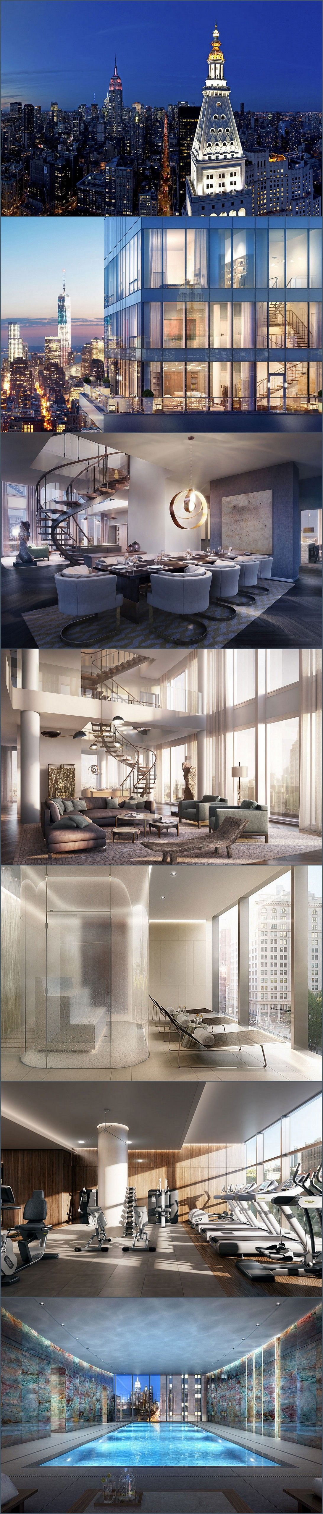amazing new york penthouse luxury architecture pinterest haus haus ideen und luxus. Black Bedroom Furniture Sets. Home Design Ideas