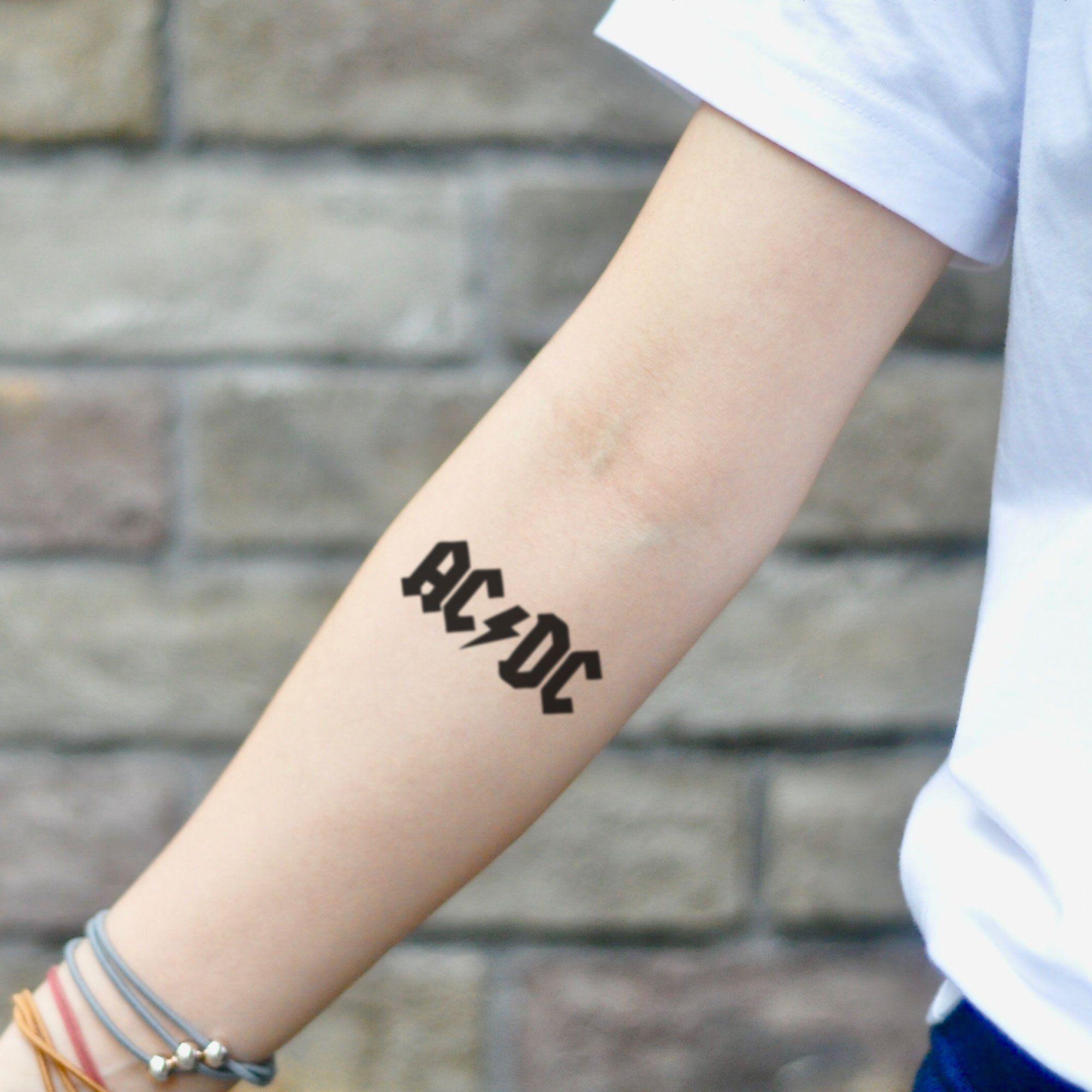 Ac dc temporary tattoo sticker set of 2 in 2020