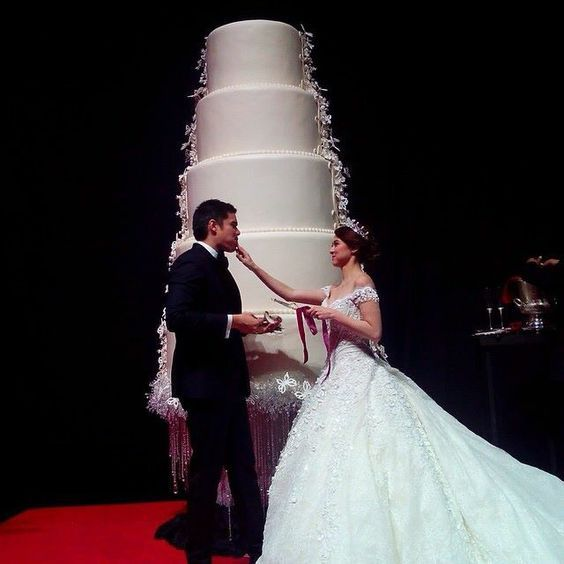 9 of the most extravagant celebrity wedding cakes dingdong dantes and marian rivera chwv