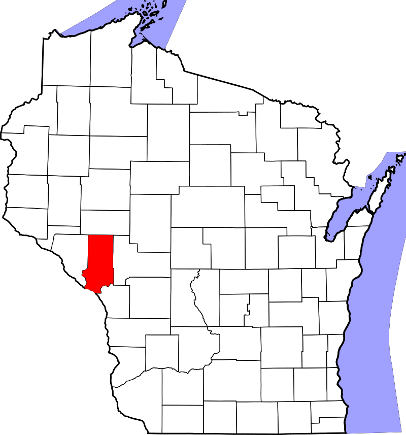 Map Of Wisconsin Highlighting Trempealeau County List Of Counties In Wisconsin Wikipedia Wisconsin
