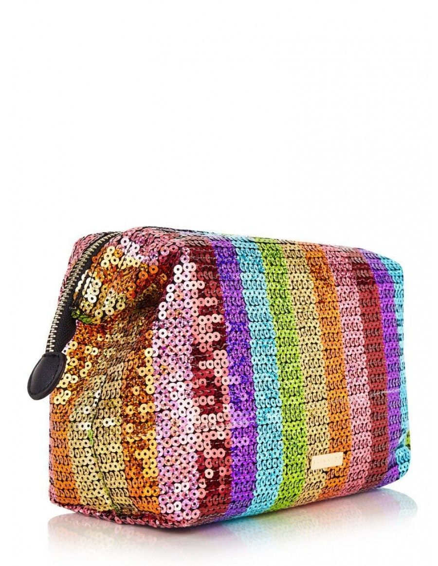 Rainbow Sequin Wash Bag Skinny Dip London Makeup Bag