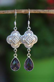 f41f29e2b8a42 PURPLE AMETHYST QUATREFOIL EARRINGS $22 - Jewelry Earrings Dangle ...