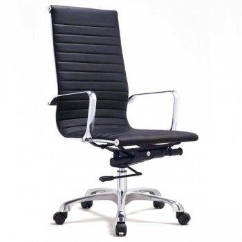 Ludlow High Back Office Chair Black Modern Office Chair Contemporary Office Chairs Work Chair