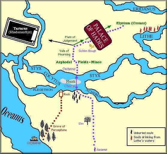 So useful map of the GrecoRoman Underworld  Heir to the