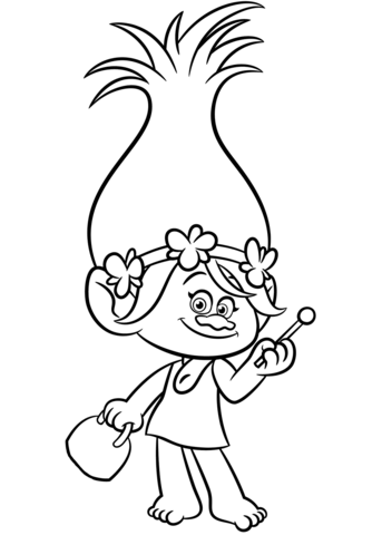 Poppy From Trolls Coloring Page Trolls Pinterest Coloring
