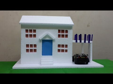 This Step By Step Video Tutorial Shows You How To Make A Easy Thermocol  Bungalow Model House. This Thermocol Craft House Making Tutorial Is  Specially Made ...