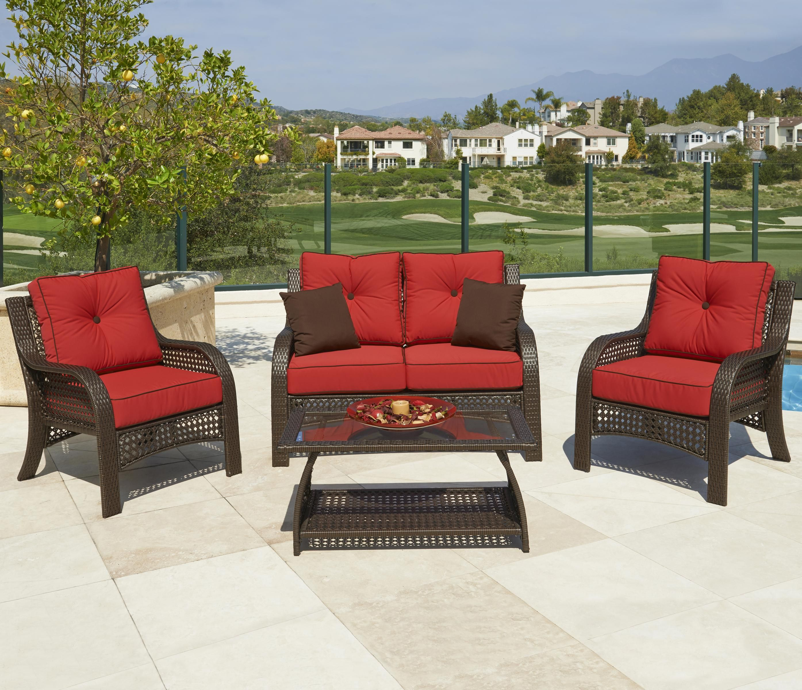 Chelsea 4 Pc Chat Set by NorthCape International | Patio ...