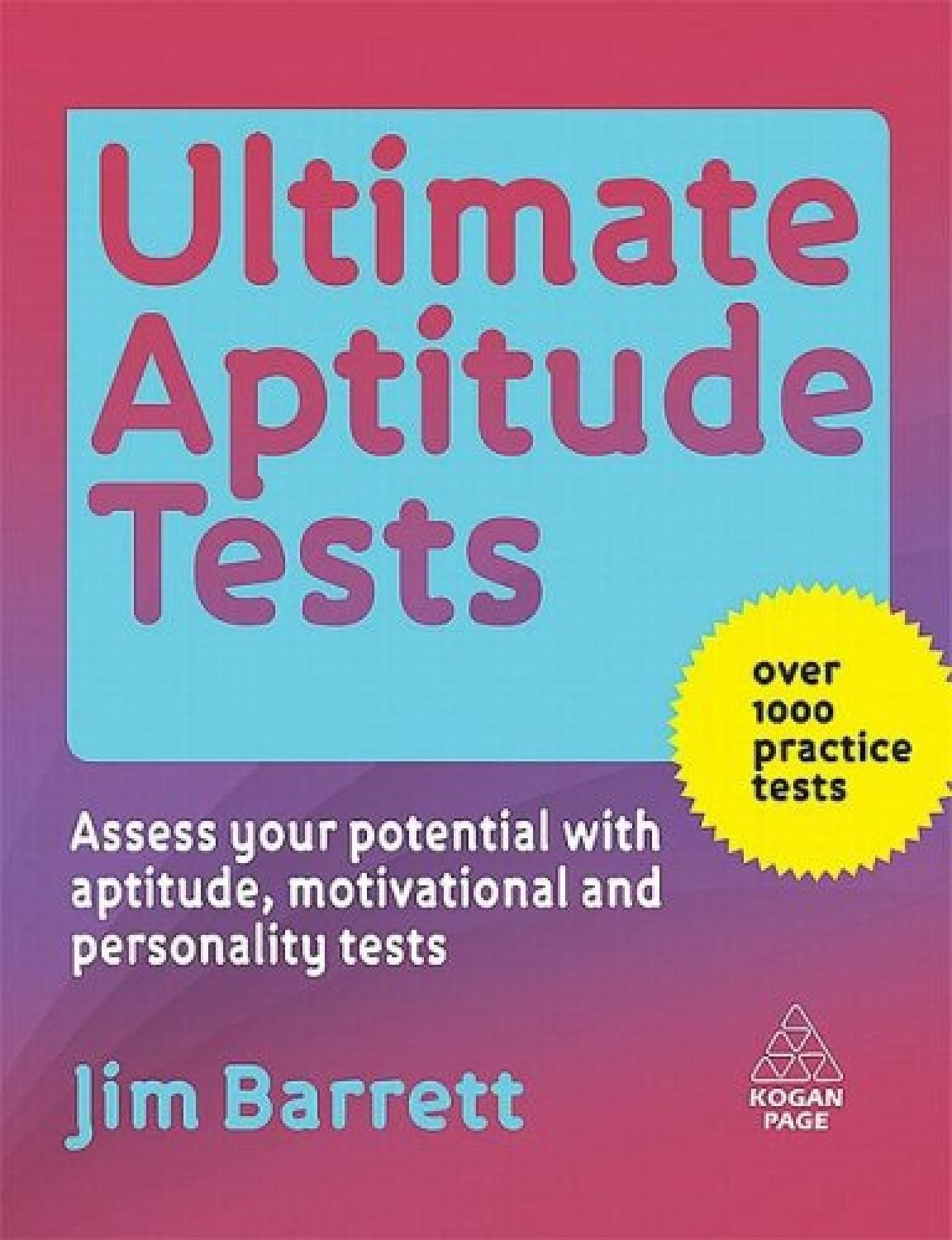 Ultimate Aptitude Tests Pdf Book Free Download Learning
