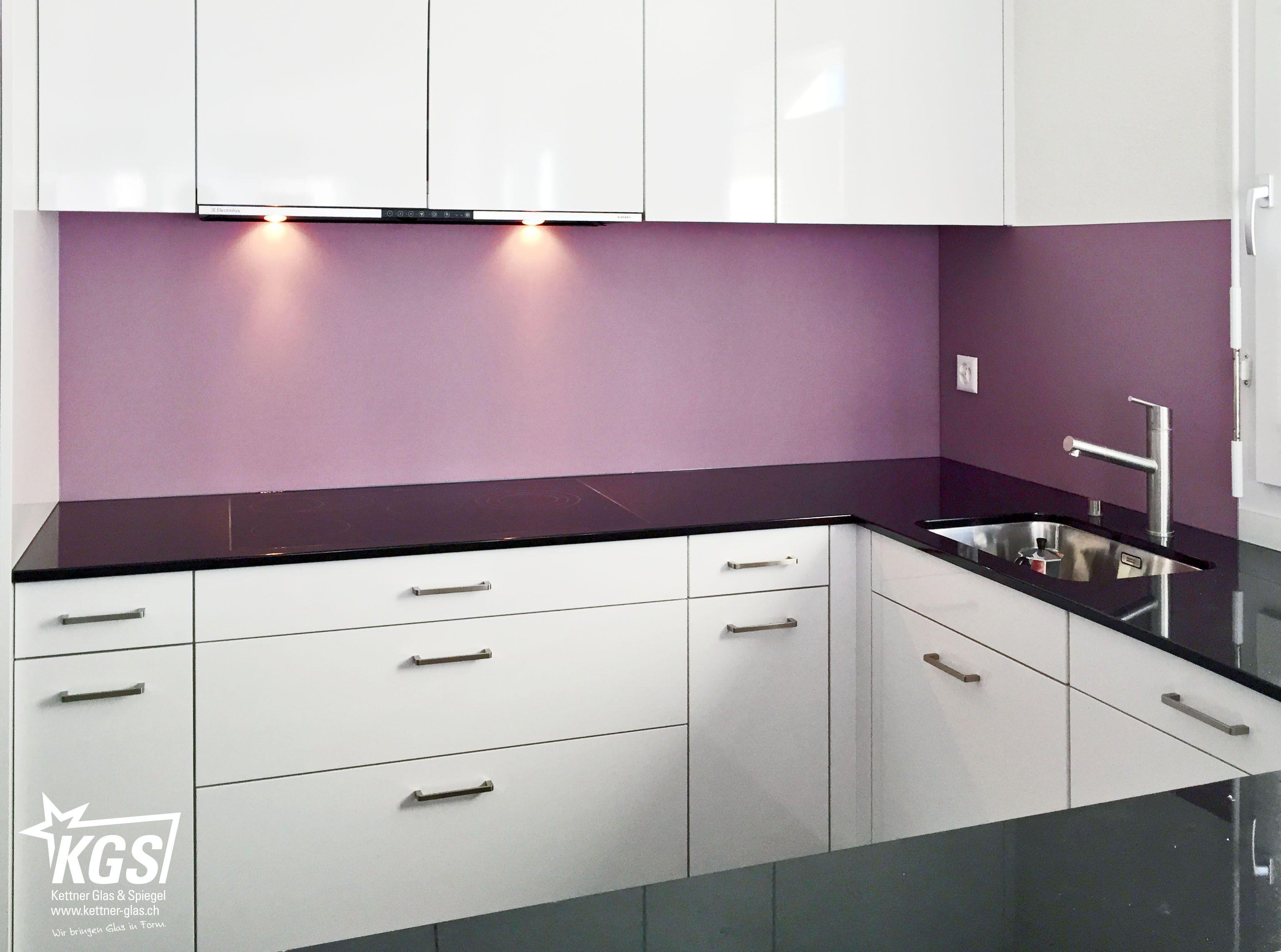 #Satinato  #Glas  #Küchenrückwand In #RAL4009 Von Ihrer #Glaserei: #Violett  Oder #Lila Ist Eine Mischung Aus #Rot Und #Blau Mit Vielen  Unterschiedlichen ...
