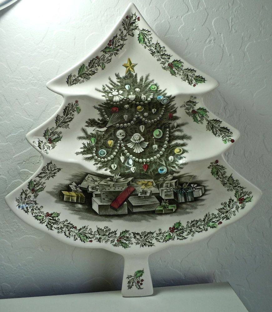 Johnson Brothers Merry Christmas Relish Tree 3 Part #JohnsonBrothers ...