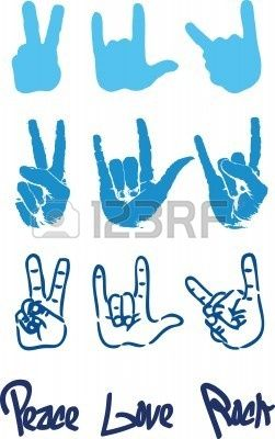 Peace Hand Sign Logo Love Rock Hand Doodles Rock Hand Sign Peace Sign Drawing