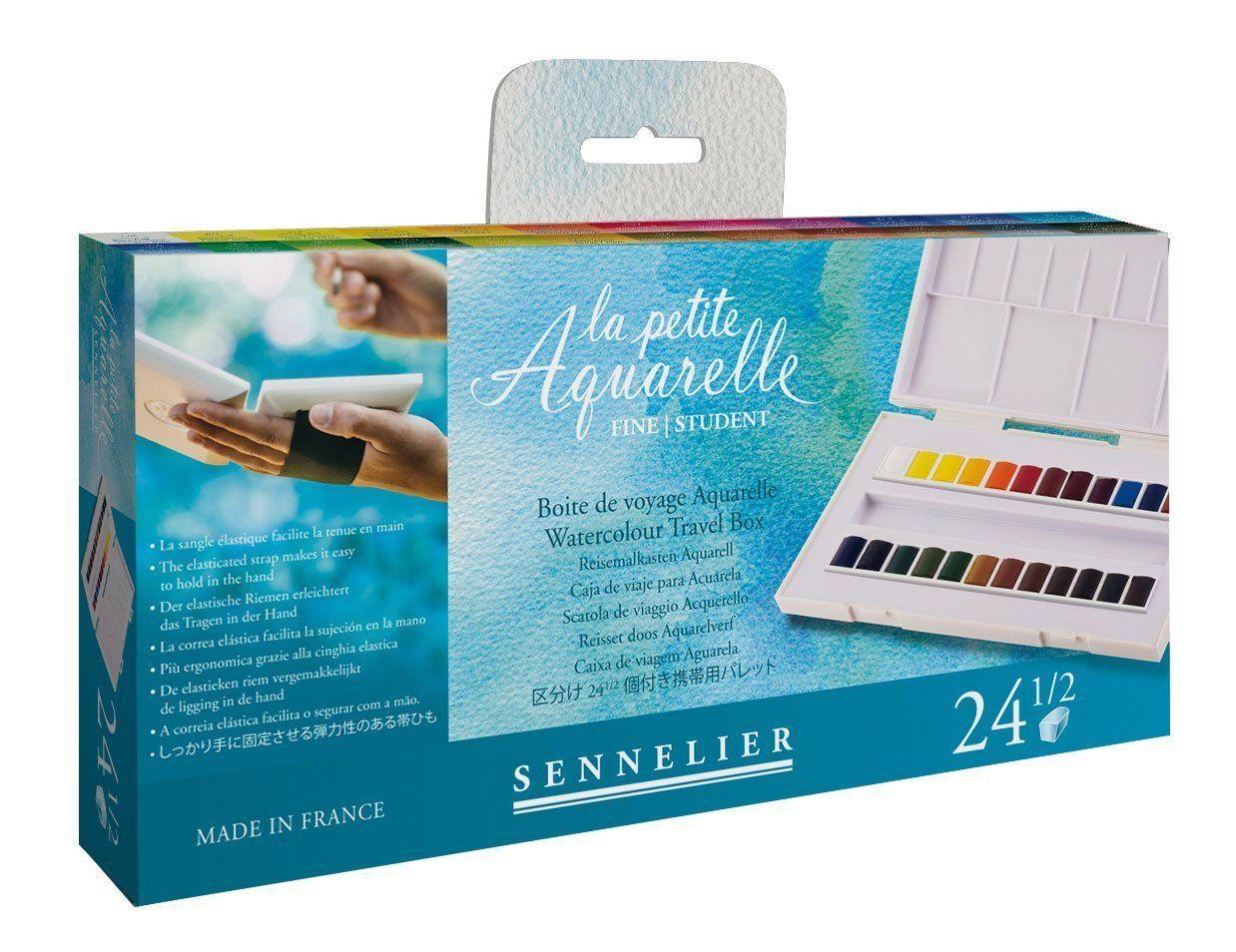 Amazon Com Sennelier La Petite Aquarelle 24 Half Pans 31 13