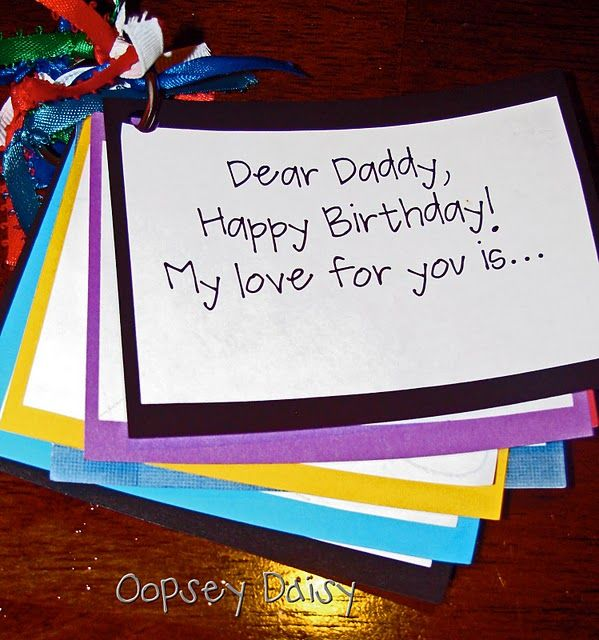 Cute Card For Dad Birthday. Could Also Use For Father's