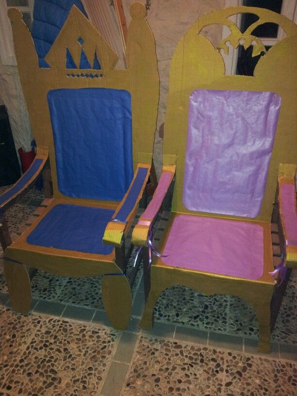 Cardboard thrones birthday party diy throne chairs for Throne chair plans