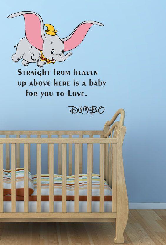 Dumbo Quotes Adorable Dumbo Quotes Disney  Walt Disney Dumbo Wall Quote Sticker Art Vinyl . Inspiration