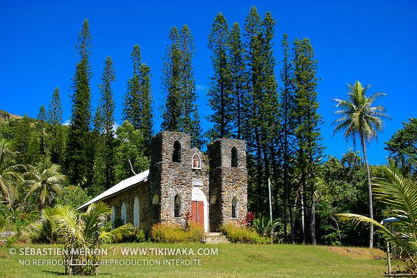 Saint Paul Church At Pambou Tribe Poindimie Region East Coast New Caledonia Tikiwaka New Caledonia Stock Ph New Caledonia East Coast Beautiful Landscapes