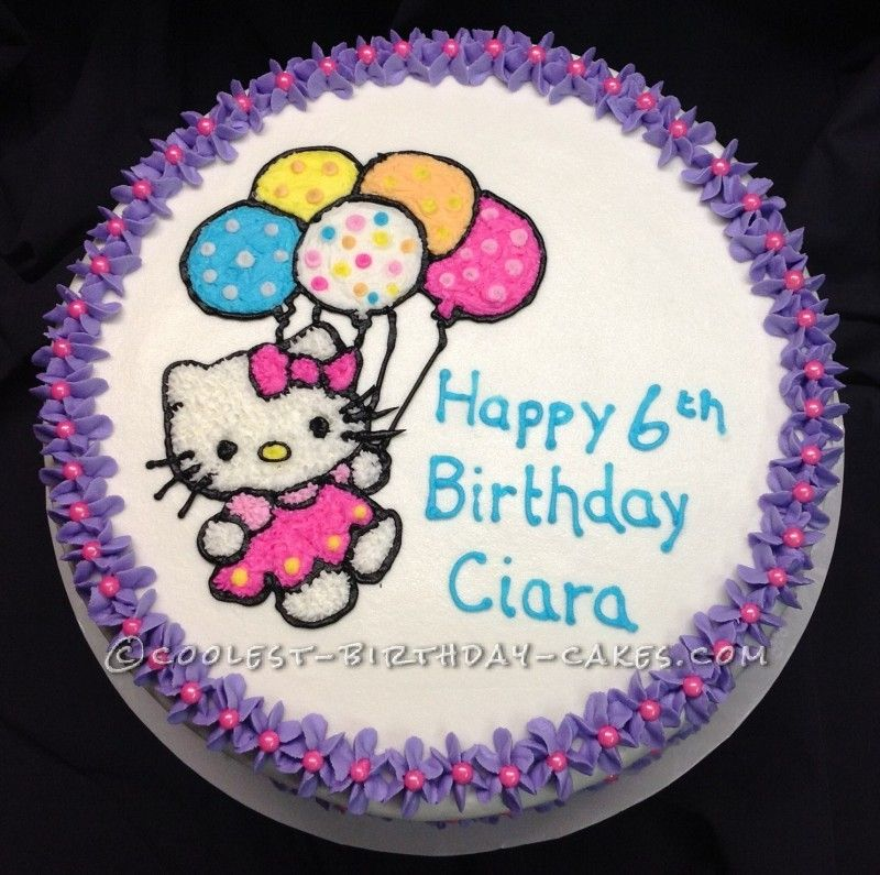 Coolest Hello Kitty Birthday Cake Hello kitty birthday cake Hello