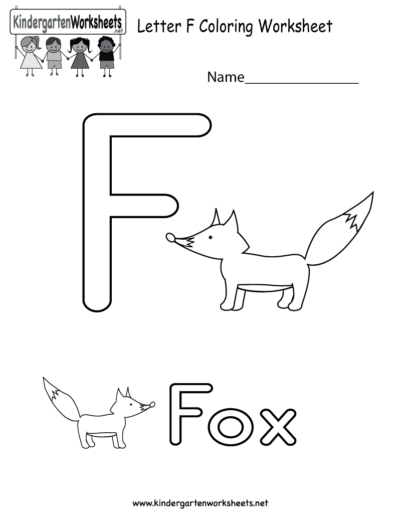 This Is A Letter F Coloring Worksheet This Would Be A Fun Pro English Worksheets For Kids Alphabet Worksheets Kindergarten English Worksheets For Kindergarten