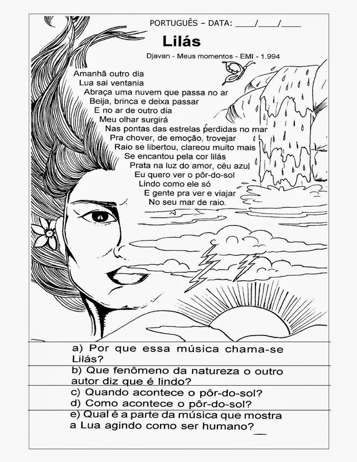 1 Interpretacao Textos Musica Poema Producao Atividades Exercicios