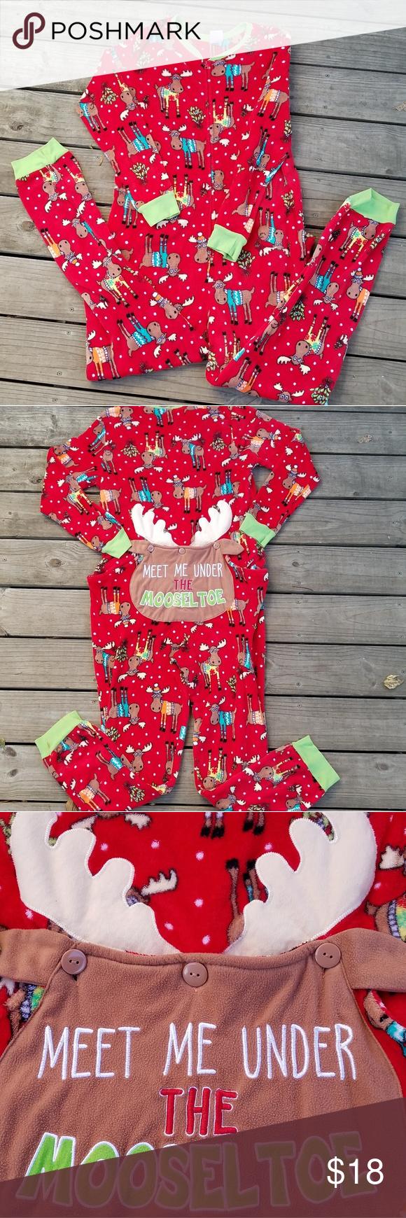 Fleece moose Christmas fleece onesie | Onesies, Fleece